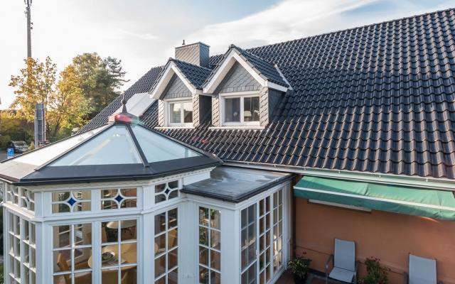 Dach mit Wintergarten